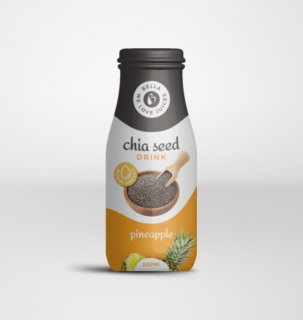 Chia Seed Drink With Pineapple Flavour