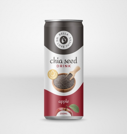 Chia Seed Drink With Apple Flavour Can