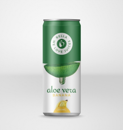 Aloe Vera Drink With Banana Flavour Can