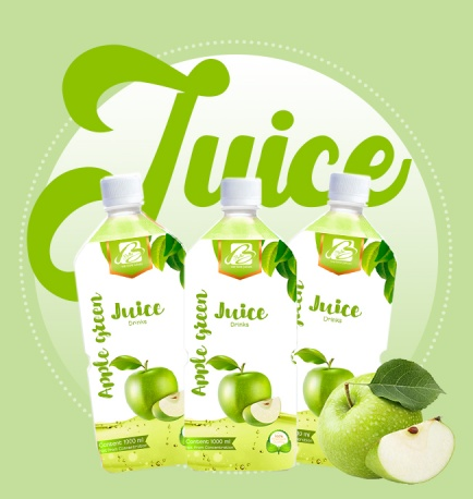 Fruit Juice Drink With Green Apple Flavour Pet Bottle