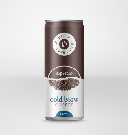 Cold Brew Coffee Drink With Espresso Flavor Can