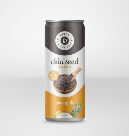 Chia Seed Drink With Pineapple Flavour Can