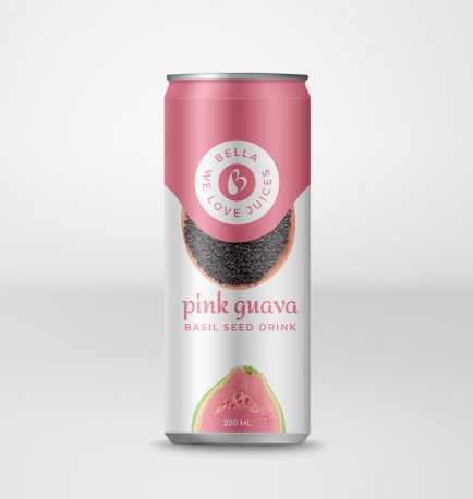 Basil Seed Drink With Pink Guava Flavour Can