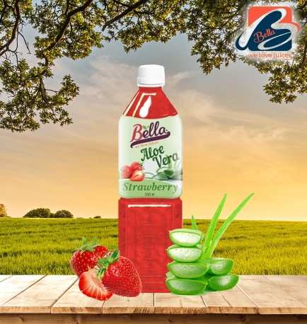 Aloe Vera Drink With Strawberry