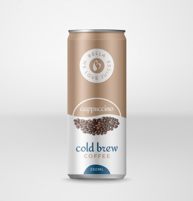 Cold Brew Coffee Drink With Cappuccino Flavor Can